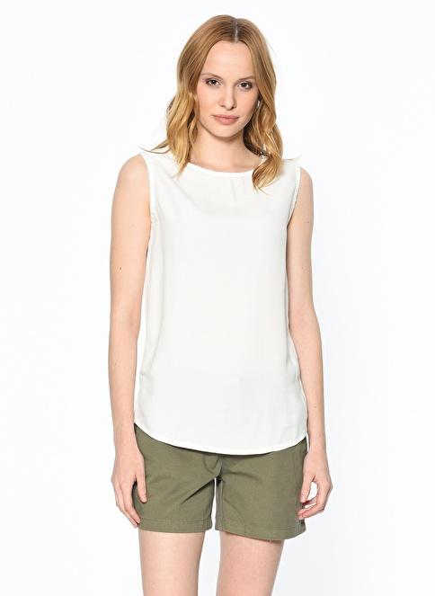 Fashion Friends Kolsuz Bluz Beyaz